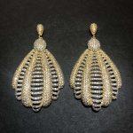 XIUMEIYIZU Gold Color Luxury Hollow Out Full Mirco Cubic Zirconia Women <b>Wedding</b> Earring Fashion <b>Jewelry</b>