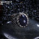 GOMAYA Fashion Blue Crystal 925 Sterling <b>Silver</b> Rings Retro Vintage <b>Jewelry</b> Female Ring Bijoux Wholesale Fine <b>Jewelry</b> Women