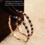 New <b>Fashion</b> Chunky Exaggerated Big Hoop Earrings Large Round shaped CZ Crystal Women <b>Jewelry</b>