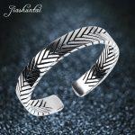 JIASHUNTAI Vintage S990 <b>sterling</b> <b>silver</b> bangles HANDMADE fishbone opening bracelets & bangles for men and women <b>jewelry</b> 5.8 CM