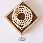 108Mala Tibetan Buddhist Prayer Beads Ivory White Tagua Nut Beads Necklace Exclusive Yoga <b>Jewelry</b> <b>Handmade</b> Unique Lucky Bracelet