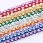 Wholesale <b>Native</b> <b>American</b> Beadwork SS6 Crystal Rhinestone Banding Trim 10 yards each card Indian <b>Jewelry</b> Earring Accessories