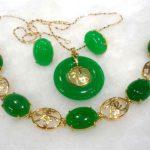 Women's Wedding charming green/red stone -black gem mixed bracelet/earring/ring set real silver-<b>jewelry</b>