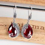 2018 High red earring earring Quality Vintage Wedding Accessories gift <b>handmade</b> <b>Jewelry</b> Earring For Women Drop Earrings Stone