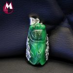 Jade 100% 925 Sterling <b>Silver</b> Necklaces Pendants Exquisite Natural Green Chalcedony For Women Figure <b>Jewelry</b> SP05