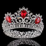 Baroque Bride Crown for <b>Wedding</b> Crown Crystal Flower Princess Diadem Rhinestone headband large Hair Accessories Head <b>Jewelry</b>