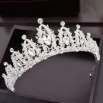 White Crystal Bridal Tiara de noiva Wedding Crown Princess Queen Bride Crown diadema sieraden Hair <b>Jewelry</b> Women Accessories