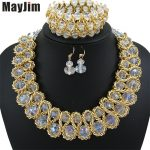 Statement necklace 2018 fashion <b>jewelry</b> sets <b>Handmade</b> beads chain crystal dubai <b>jewelry</b> sets Vintage beads Bijoux Accessories