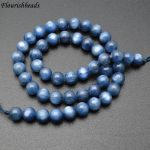 8mm Natural Kyanite Stone Round Loose Beads High Quality Fashion <b>Jewelry</b> making <b>supplies</b>
