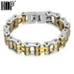 HIP 23CM Motor Biker Chain <b>Bracelet</b> 316L Stainless Steel Men Boy Heavy <b>Silver</b> Gold Color Biker <b>Bracelet</b> Bangle Fashion Jewelry