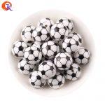 Cordial Design 20mm100pcs/lot Printing Soccer Football Sport On White Acrylic Beads For Kids Chunky Beads <b>Jewelry</b> CDBD-601115