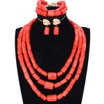 Chunky Original Coral Beads <b>Jewelry</b> Set for Nigerian Weddings Orange or Red African Women <b>Necklace</b> Bride Indian Bridal Jewellery