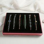 Anfei Velvet <b>Necklace</b> Display Tray <b>Jewelry</b> display <b>Jewelry</b> Accessories Case <b>Necklace</b> Pendants Plate <b>Jewelry</b> Organizer Box WSY-27
