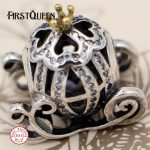 FirstQueen Cinderella's Pumpkin Carriage Charm Beads Fits bracelet charme argent 925 <b>supplies</b> for <b>jewelry</b> wholesale