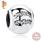 BELAWANG 925 Sterling Silver Beads Aquarius Zodiac Sign Crystal Charms Bead Fit Original BW Bracelet Pendant <b>Jewelry</b> <b>Making</b>