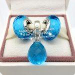 3pcs Fashion S925 Silver Aqua Blue Series Dangle Charms Beads <b>Jewelry</b> Set Fit DIY Bracelets Necklaces <b>Jewelry</b> <b>Making</b> Woman Gift