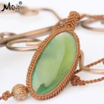 Green Carnelian Pendant <b>Handmade</b> Fashion Ethnic Boho Tibetan <b>Jewelry</b> Pendant Necklace Chokers Necklaces for Women MJ-STN011