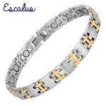 Escalus Women Magnetic Bio Bracelet Color Gold Silver Stainless Steel Ladies <b>Jewelry</b> Bangle <b>Accessories</b> Wristband Charm