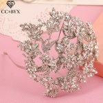 CC tiaras and crowns hairbands luxury pageant crystal rhinestone wedding hair accessories for bride bridal hairwear <b>jewelry</b> s451