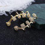 Sexemara Luxury AAA Zircon Stud Earrings Crystal Earrings for Women earrings 925 silver needle <b>Wedding</b> <b>Jewelry</b>