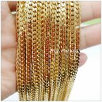 Fashion <b>Jewelry</b> 5/10Meters 4mm Width Gold Stainless Steel Classic Chain Finding Pendant&<b>Necklaces</b>,Wholesale Factory Price