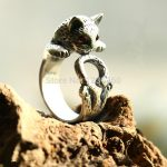 ChiangMai Thailand Thai silver <b>jewelry</b> <b>handmade</b> silver ring cat ring opening female