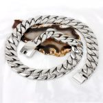 72cm(28″)*24mm 520g High Polished Heavy Stainless Steel <b>Silver</b> Cuban Link Chain Shiny Men Women's <b>Necklace</b>, Good Christmas Gift