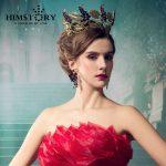 Gogeous Enlarge Sparkling Crystal Women Crown Tiaras Bridal hair <b>Jewelry</b> <b>Wedding</b> Hairwear Hair Accessory Queen Style Crowns
