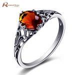 Top Quality 925 Sterling Silver Rings for Women <b>Handmade</b> Spinner Brown Stone Amber Wedding <b>Jewelry</b> Toe Rings Custom Wholesale