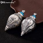 Open S990 Sterling <b>Silver</b> Conch Locket Pendants Buddhist Antique Shurangama Mantra Amulets Talismans <b>Necklace</b>