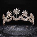 <b>Fashion</b> Gold Crown Tiara Crystal Headband Bridal Wedding Hair <b>Jewelry</b> Star And Moon Crown Women Party Hair Headpiece