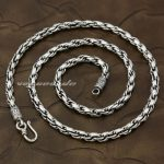 5mm 925 Sterling <b>Silver</b> Woven Double Link Chain Mens Biker <b>Necklace</b> 8L001 Free Shipping
