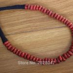 NK185 Vintage Tibetan <b>Jewelry</b> Red Coral Beads Women Necklace Handmade Nepal <b>Antiqued</b> Coral Beaded Necklace