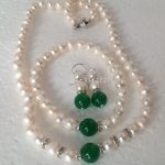 Trendy Accessory Crafts Beautiful White Akoya Pearl Necklace Bracelet Earrings <b>Jewelry</b> <b>Making</b> Sets Wholesale Balls Girls Gifts