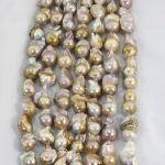 1 Strand Natural Gold Pearl Beads Strands 15-25MM <b>Wedding</b> Edison Pearl Beads AAA Baroque Pearls DIY <b>Jewelry</b> Material LPS0007