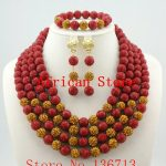 <b>Handmade</b> Coral women necklaces costume <b>jewelry</b> nigerian wedding african Coral beads <b>jewelry</b> set R743