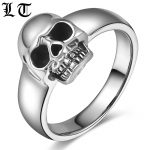 LT Solid 925 Sterling Silver Skull Ring Men High Polished Punk Vintage Rings For Women <b>Handmade</b> <b>Jewelry</b> For Male Female