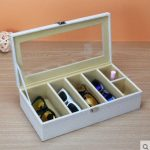 <b>fashion</b> wooden stucture PU leather6-grid glasses,suglasses storage box <b>jewelry</b> display <b>jewelry</b> organizer for sunglass YJ006