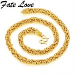 Fate Love Hiphop Dragon Necklace Gift Gold Color Chain Huge&Heavy Long Rope Men's Necklace Link thick curb Chocker <b>Jewelry</b> KX658