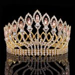 New Luxury Sparkling Crystal Baroque Queen King <b>Wedding</b> Tiara Crown Pageant Prom Diadem Tiaras For Women Hair <b>Jewelry</b> accessory