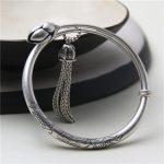 JINSE Summer <b>Handmade</b> Bracelet Women Bohemian Brand Bangle Tassel S990 Bracelets Fish Lotus Carved <b>Jewelry</b> For Girl Wholesale