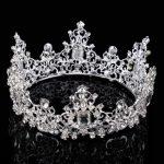 Baroque Princess Large Russia Crystal Bride Crown Tiara Woman Rhinestone <b>Wedding</b> <b>Jewelry</b> Headband Accessories New