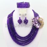 2017 New Arrival African Beads Jewelry Set Nigerian Wedding African Crystal Beads Jewelry Set HD1960