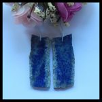 Natural Gemstone Nugget Lapis Lazuli <b>fashion</b> Earrings,48x19x3mm,12.9g