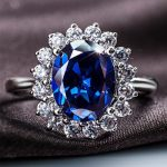 Bridal Wedding <b>Jewelry</b> Sets for Women Princess Diana Real 925 <b>Sterling</b> <b>Silver</b> Cushion cut natural CZ Stud Earrings Ring Necklace