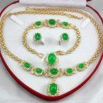 real Women's Wedding Bridal Jewellery Women's Set Pink Crystal Necklace Earring Bracelet Ring silver-<b>jewelry</b>