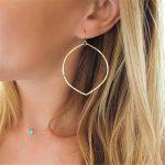 Big Hoop Earrings <b>Handmade</b> Vintage <b>Jewelry</b> Customize 14 Gold Filled Orecchini Brincos Pendientes Earrings for Women Oorbellen
