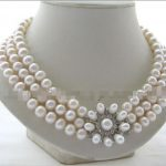 Wholesale price 16new ^^^^17-19″ 3row 10mm natural white round freshwater pearl <b>necklace</b>