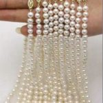 Beatiful DIY wholesale 10 Strands 7-8MM Akoya Cultured Pearl Shell Necklace 17.5″ Beads <b>Jewelry</b> <b>Making</b> Natural Stone