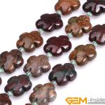 15mm Flower Shape Natural Ocean Agat Stone Beads DIY Loose Beads For <b>Jewelry</b> <b>Making</b> Strand 15 Inch Wholesale